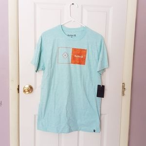 NWT HURLEY Men's Teal Gradient Tee Shirt Size M